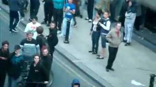 Dominic Noonan spotted at Manchester Riots Oldham Street 2011