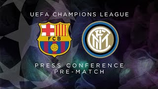 BARCELONA vs INTER | LIVE | Pre-Match Press Conference Conte + Skriniar [SUB ENG]