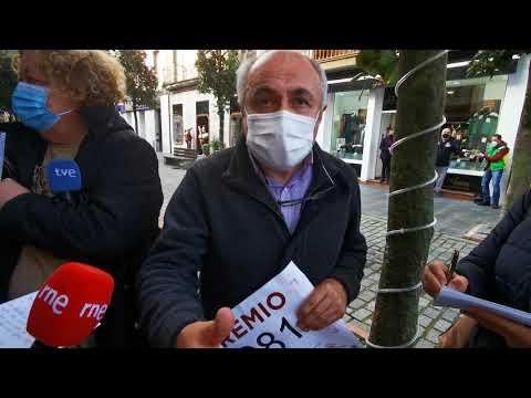 VÍDEO José Gil, el lotero que repartió 3 millones de euros en Villaviciosa