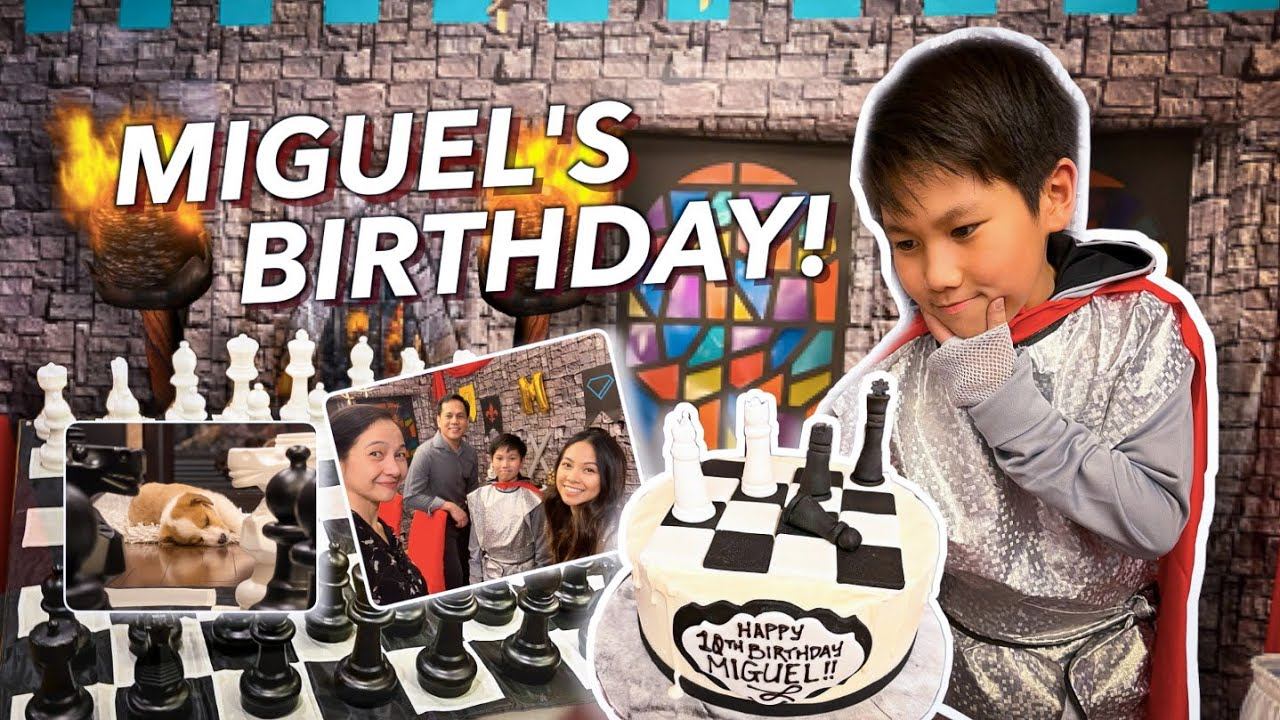 BIRTHDAY CHESS Party! (Miguel turns 10)