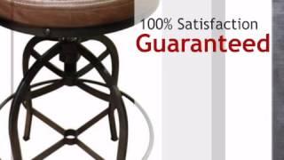 Cantina Round Adjustable Barstool - Lonestarwesterndecor.com