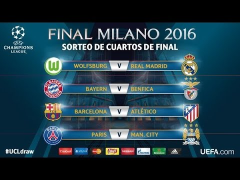 Cuartos de final champions 2016 uefa champions league for Cuartos de final champions