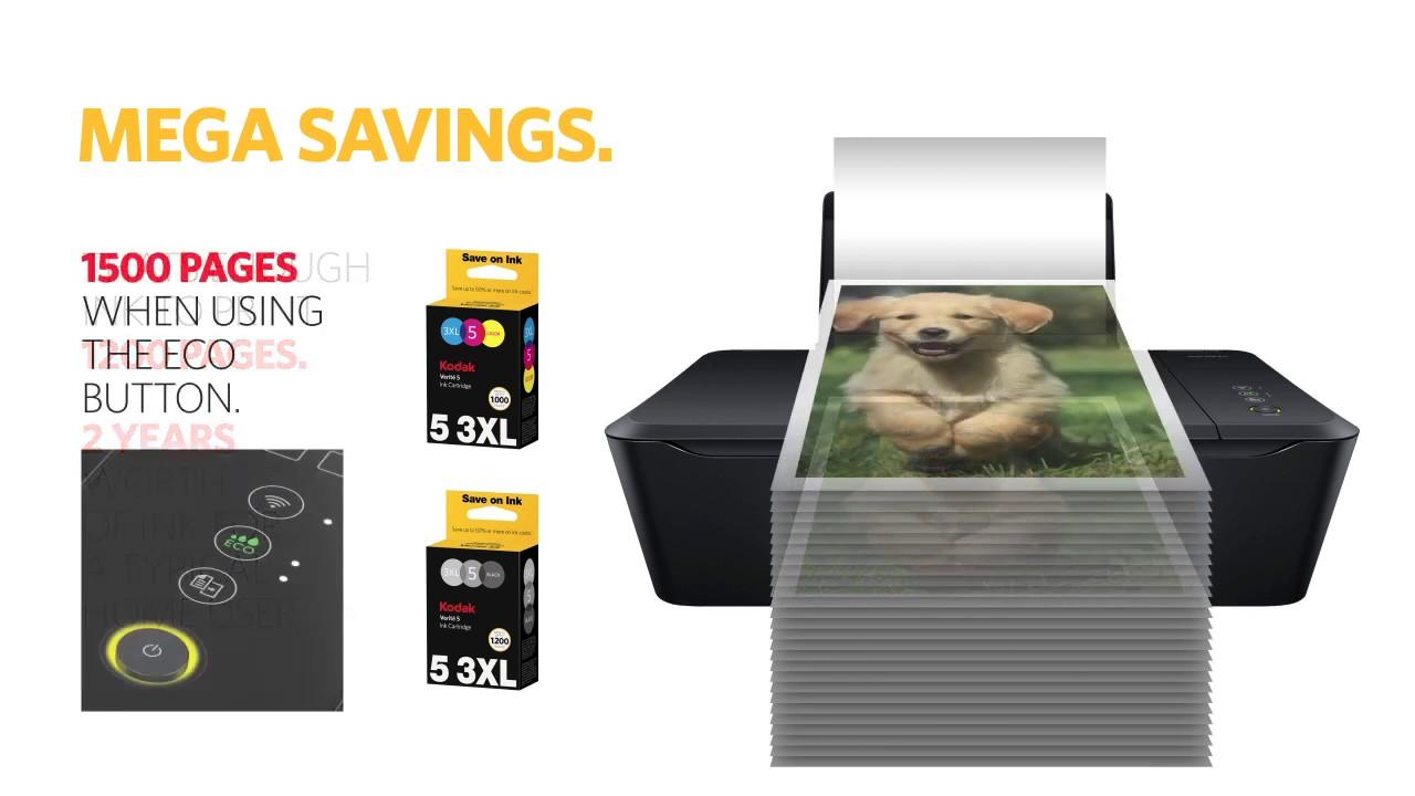 Kodak Verite 55 Mega Cartridge Bundle Wireless All In One Inkjet Printer