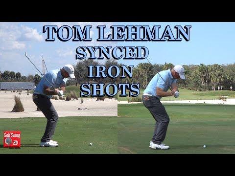 TOM LEHMAN STIFFS TWO IRON SHOTS SYNCED GOLF SWINGS