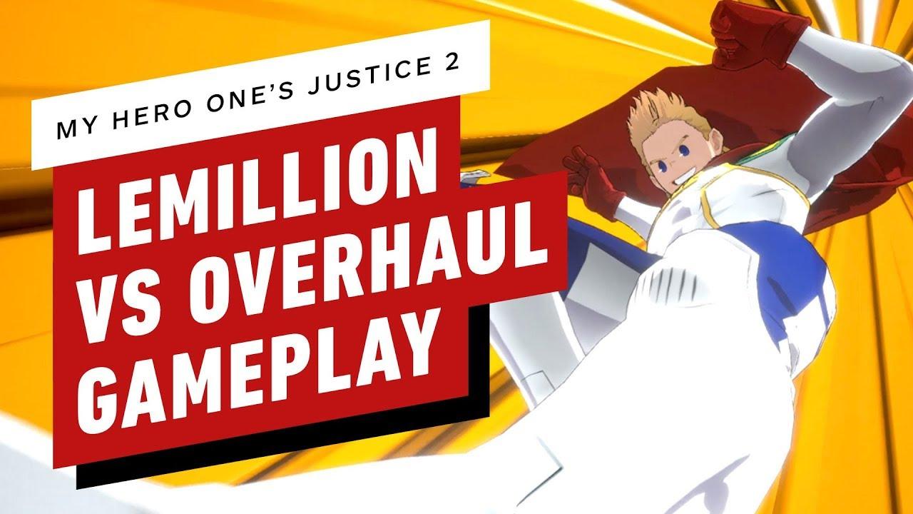 My Hero One's Justice 2 - gameplay de Lemillion VS Overhaul + vídeo
