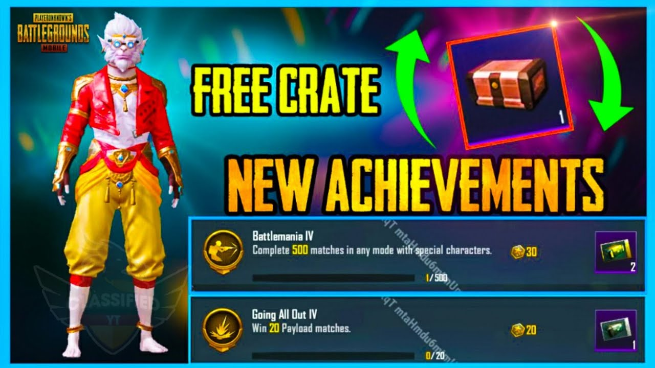 GET FREE RP CRATE - NEW ACHIEVEMENTS IN 0.15.0 UPDATE ( PUBG MOBILE )