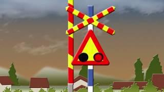 セルビアの踏切 Serbian version, Level Crossings of the World|踏切子供向けアニメ動画  Железнички прелаз thumbnail
