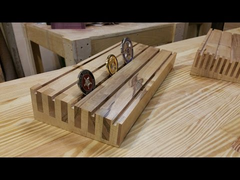 Box Joint Challenge Coin Display