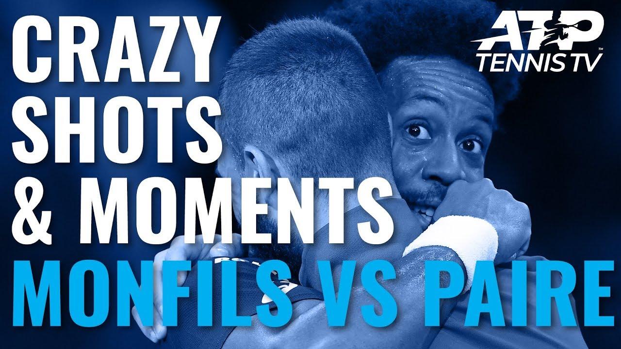 Crazy Shots & Funny Moments in Gael Monfils vs Benoit Paire   Paris 2019