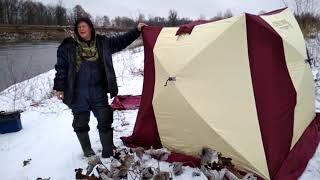 Тест буравчиков(ввертышей) для крепления зимних палаток на льду.