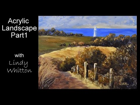 Acrylic Landscape Painting – Part 1