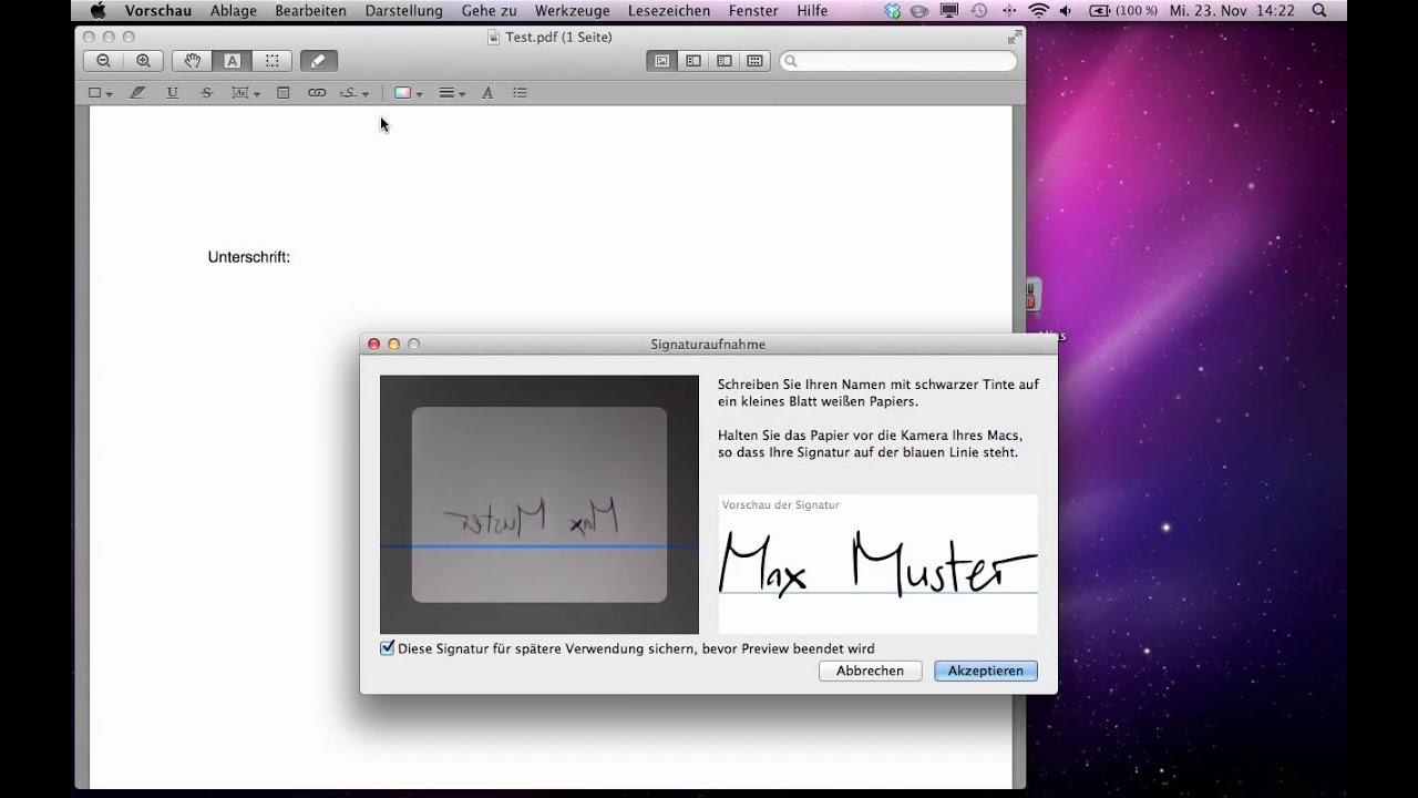 Ganz einfach Signatur/ Unterschrift zu Dokument hinzufügen!! - YouTube