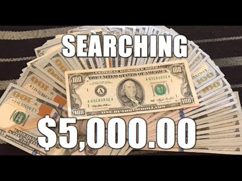 $5,000.00 Banknote Hunt! Searching For Rare & Valuable Banknotes