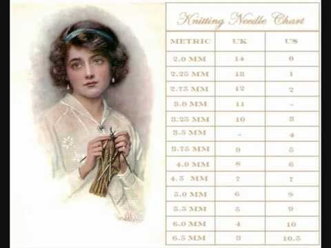 Online Knitting Needle Conversion Chart Youtube