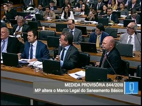 Saneamento básico - TV Senado ao vivo - MP 844 - 31/10/2018