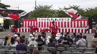 よさこい連みづまさんの演舞「輪承~タマフリノマイ~」です。miduma.