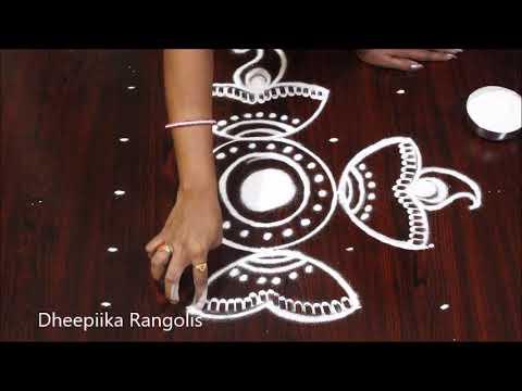beautifull deepam muggulu designs for diwali 2018 deepawali muggulu easy rangoli designs