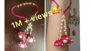 Silk thread jhumka bracelet/festival wear bracelet/jewellery making/simple and easy bracelet making
