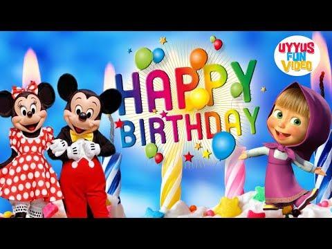 Lagu Anak Selamat Ulang Tahun | Bersama Badut Disney Mickey Mouse Dan Badut Marsha