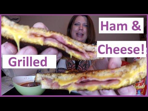 Cheesy Grilled Ham & Cheese Sandwich, Mac & Cheese, & Tomato Soup: MUKBANG