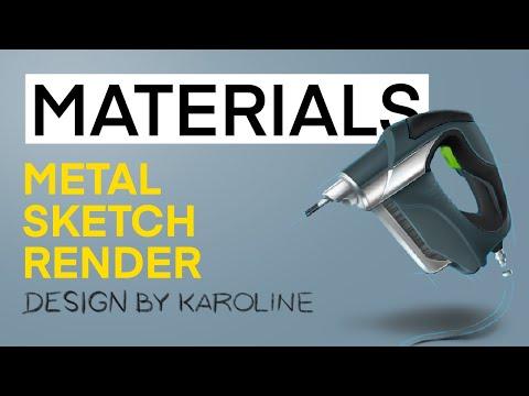 HOW TO SKETCH METAL! MSL Episode 3: Metal - Sketch-render Tutorial in Procreate by @designbykaroline thumbnail