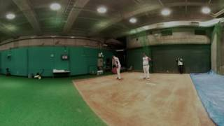VR 360: Lazaro warms up in Bullpen