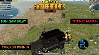 PUBG MOBILE | INTENSE MATCH RUSH GAMEPLAY CHICKEN DINNER