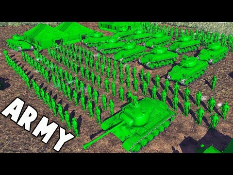 BIGGEST Army Men Force EVER! (Army Men Mod Gameplay - Toy Soldiers Green vs Tan Part 3)