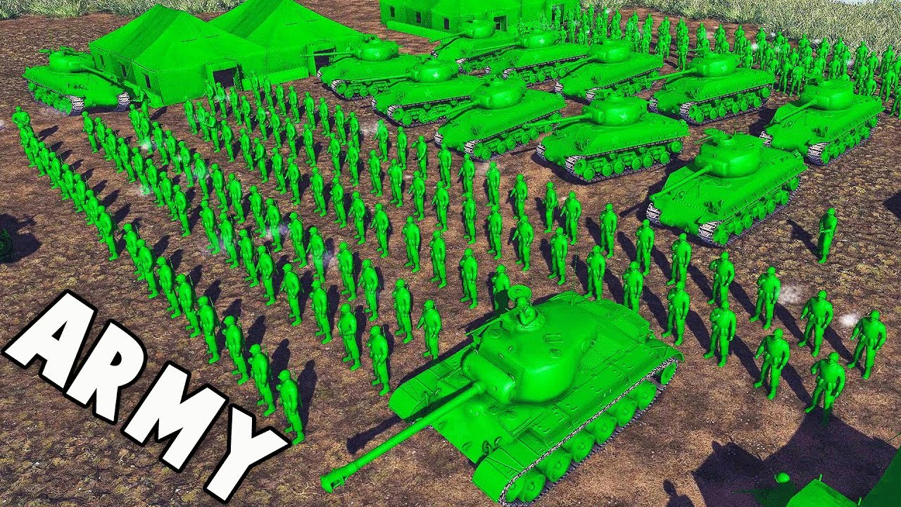Biggest Army Men Force Ever Of War Toy