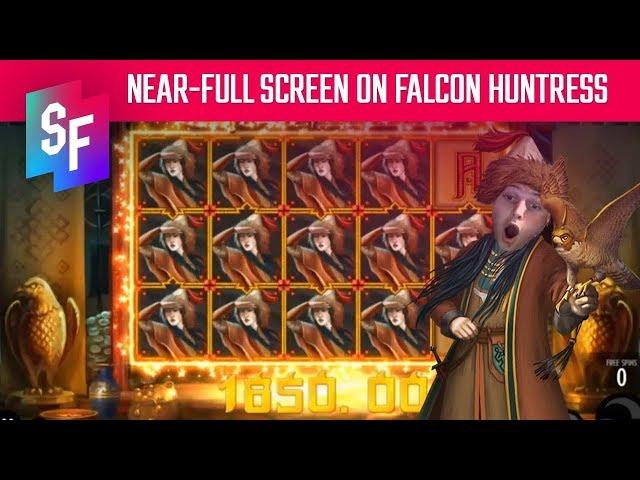 Full Line Of Falcon Huntress!! Close To Jackpot!