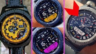 70 Absolutely Mind Blowing GEAR S3 WATCH FACES | NEW EDITION 2018 | Part 1