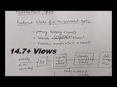 Instrumentation 01- functional blocks of measurement system