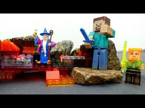 Игрушки #Майнкрафт СТИВ и Алекс на Острове МОБОВ! Город ЗОМБИ! Видео игры #длямальчиков #Minecraft