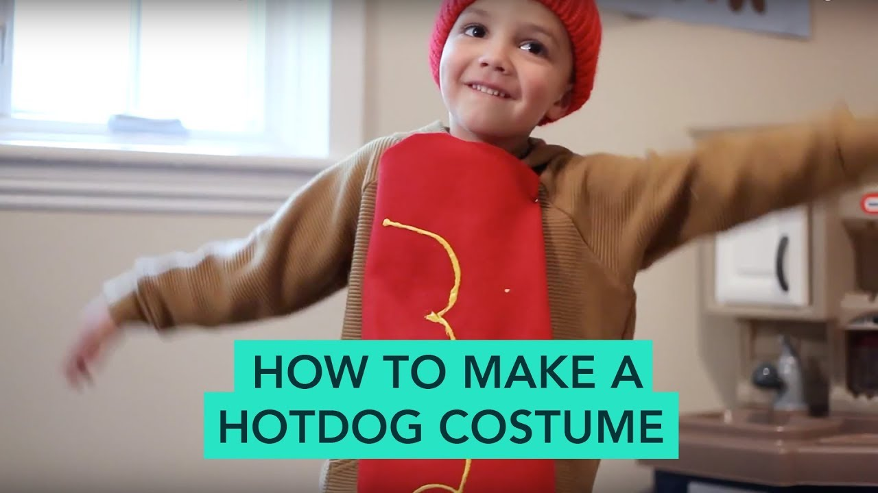 How to Make a Hot Dog Costume - Easy DIY Halloween | Care ...