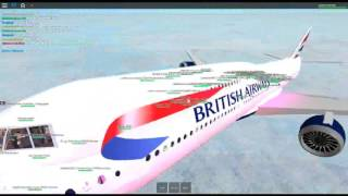 Roblox british airways 747-400 flight!! taking off