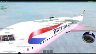 Roblox british airways 747-400 flight!! taking off