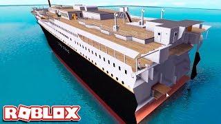 СПАСЕНИЕ на ПОЛОВИНКЕ ТИТАНИКА и ЛИФТ-ЛОВУШКА в Роблокс Титаник (HD качество) - Roblox Titanic