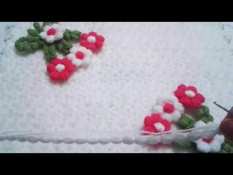 Çiçekli Üçgen Lif Modeli Yapılışı Anlatımlı Videolu