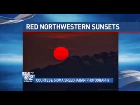 Spectacular Idaho Sunsets Connected to Siberia