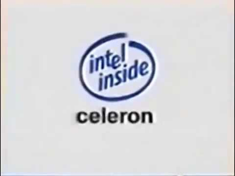 intel inside celeron logo youtube