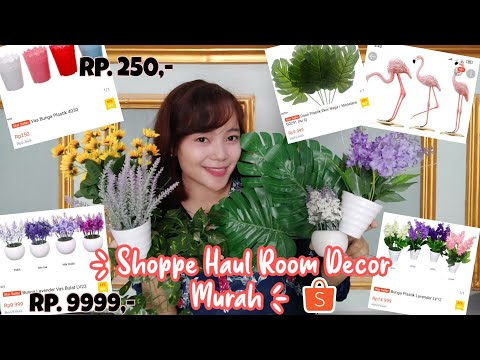 SHOPEE HAUL ROOM DECOR - NYICIL BUAT MAKEOVER KAMAR | iykaliyka from YouTube · Duration:  15 minutes 26 seconds