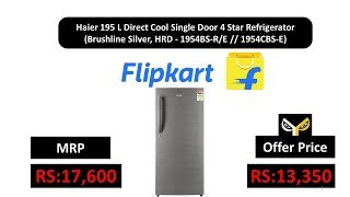 Haier 195 L Direct Cool Single Door 4 Star Refrigerator (Brushline Silver)