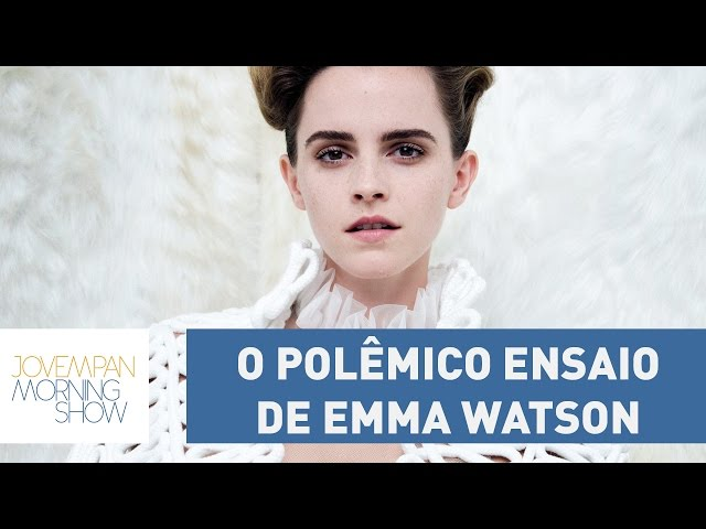 "Bancada do Morning Shows defende Emma Watson por foto sensual: ""feminismo é liberdade"""