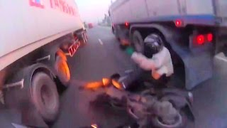 SCOOTERBOY vs TRUCK : Luckiest man alive!
