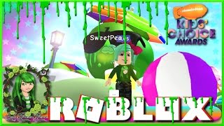 SO MUCH SLIME | ROBLOX | MeepCity | Nickelodeon Kids' Choice Awards Event | SallyGreenGamer