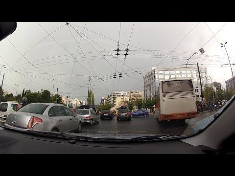 Alexandras avenue (Λεωφόρος Αλεξάνδρας), Athens, Greece (city driving) - onboard camera