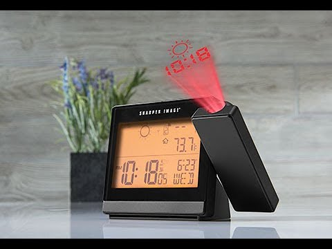 Weather Projection Clock @ Sharper Image