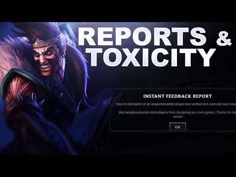 THE REPORT SYSTEM AND TOXICITY IN LEAGUE   League of Legends thumbnail