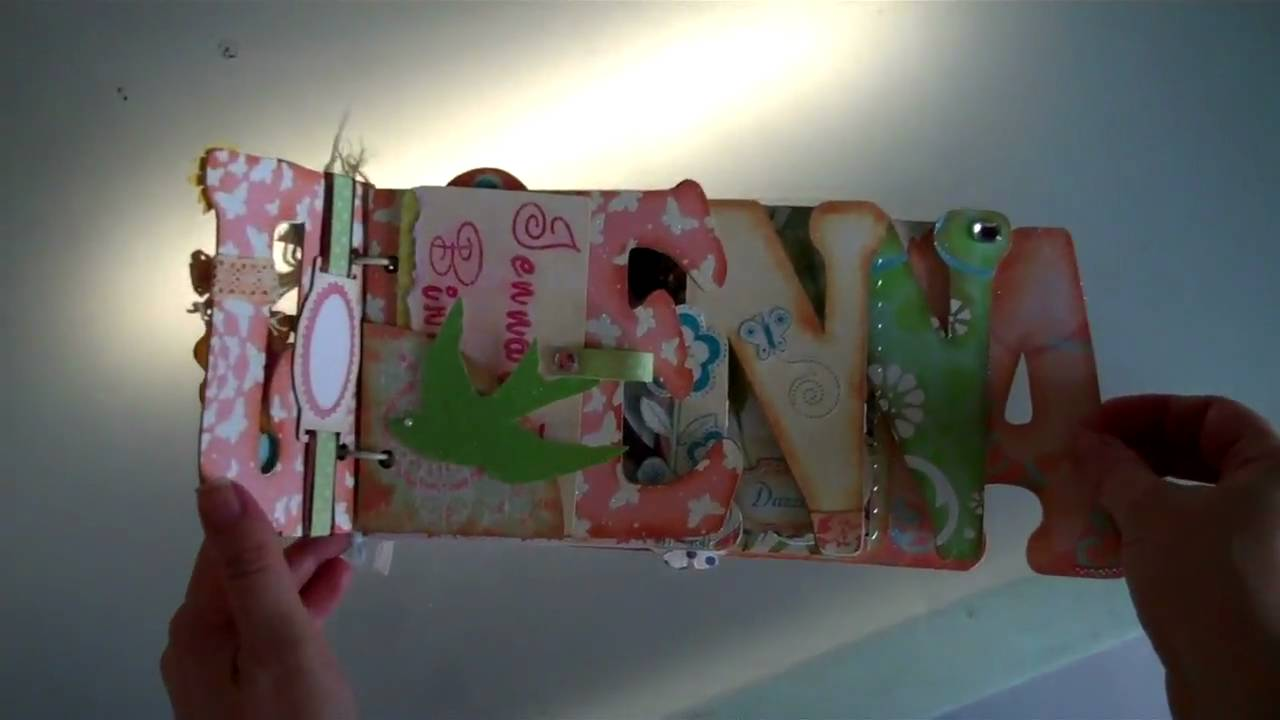 Scrapbook ideas words - Jenna Scrapbook Mini Album Word Book