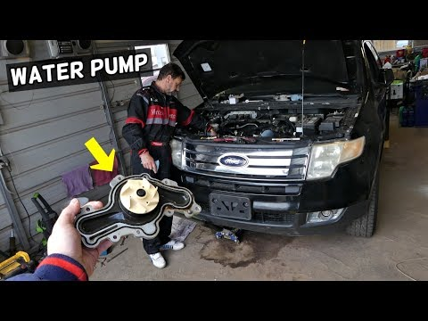 FORD EDGE WATER PUMP REPLACEMENT 3.5 3.7  LINCOLN MKX WATER PUMP LOCATION REPLACEMENT